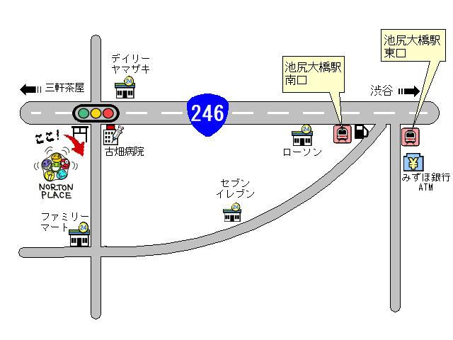 ノートンプレイス地図